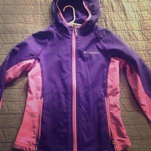 Little girls Columbia raincoat size 7/8